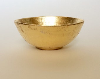 Gold Bowl,  Gold Leafed Bowl for Storage of Jewelry, Candies, and Trinkets
