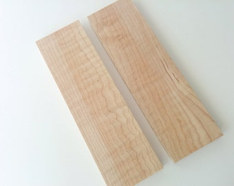 Wood Wooden Knife Scales Handles Grips Curly Hard Maple Thin Boards