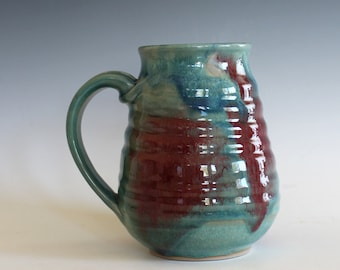 EXTRA LARGE Mug, 24 oz, handmade ceramic cup, handthrown mug, ceramic stoneware pottery mug unique coffee mug ceramics and pottery