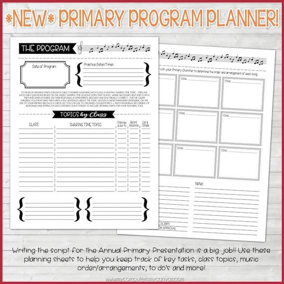 2017 PRIMARY Presidency Planner 2017 Primary Theme – Program Planner