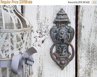 Patina Door Knocker / French Cottage / Old World  / Cast Iron Door Knocker
