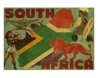 SOUTH AFRICA 2F- Personalized Leather Journal Cover Moleskine Field Notes Custom