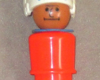 Fisher-Price Little People orange body Native American