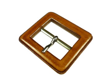 Belt buckles chunky light brown leather 1pc
