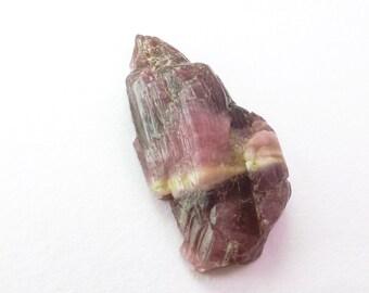 Interesting striated 100% natural tourmaline crystal cabochon. Flat back. Blackberry Parfait. 1 pc. 21.19 cts. 15x28x7.5 mm (TM2351)