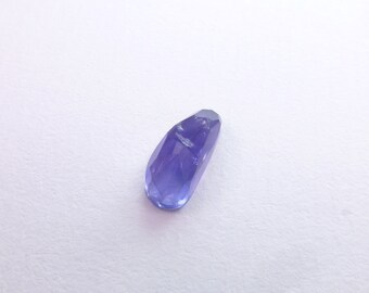 Iolite Rose Cut Faceted Cabochon. Natural Gemstone. Micro Facet Freeform Cabs. 1 pc. 2.12 cts. 5.5x12x5 mm (IO374)