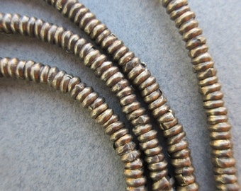 Old African Brass Heishi Beads
