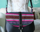 The Cameilla Bag - Crossbody bag - hipster bag - Navajo bag - recycled leather bag - leather cross body bag