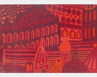 Vintage 1970s Marimekko Wall Hanging ... Katsuji Wakisaki Kumiseva, Finland Art, MCM Textile, Red Pink Purple, Architecture Scene, Modern