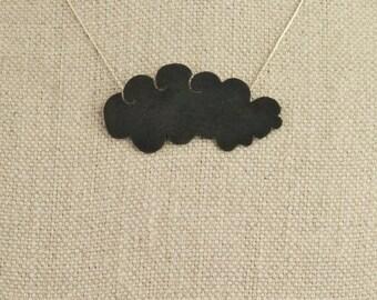 Black Cloud Necklace Layer Rain Cloud Storm Cloud