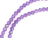 Amethyst Beads - 3mm Faceted Round