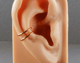Summer Sale - 10% off - Ear Cuff Copper Double Band