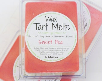 SOY Wax Tart Melt - Sweet Pea, 3 oz, Beeswax, natural, fragrance, candle, melts, home, house, citrus, berry