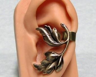 Filigree Forest Leaf Ear Cuff