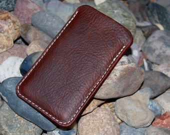 iPhone 6 Leather Sleeve or iPhone 6 Plus case, Oil Tanned Leather
