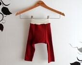 Wool Longies/wool diaper cover/ Long John's size Small/Med