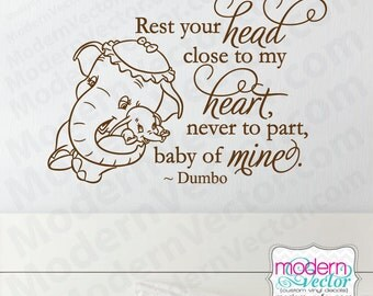 Dumbo Quotes Unique Disney Dumbo Quote Vinyl Wall Decal Nursery Heaven Baby