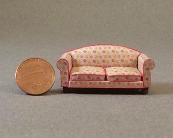 Quarter Inch Scale Furniture - Overstuffed Style Sofa