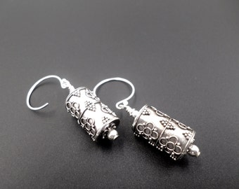 Bali Silver Drop Earrings