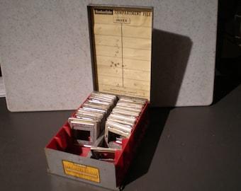 Vintage Mid Century Kodaslide Compartment File - Kodak Film