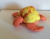 Honu(turtle) Hawaiian yellow batik fabric