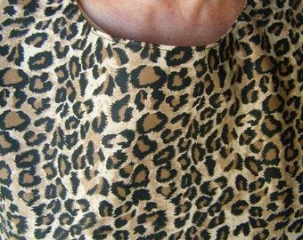 Adult Bib Cheetah tan/black Special Needs Bib reversible extra long