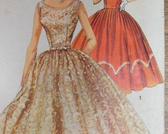 Vintage 1950s Simplicity 1158 Cocktail Dress Size 12