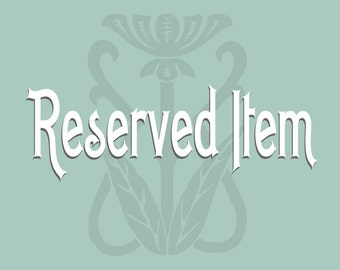 Reserved Item for Rachellem444
