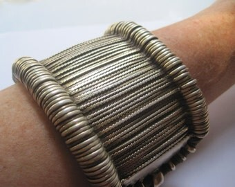Antique Tribal Indian Upper Arm Bracelet from Rajasthan,  Silver Bazuband