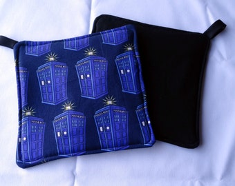 Doctor Who TARDIS Dalek Pot holders Potholder Potholder