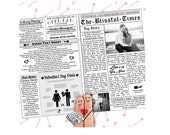 Valentines Wedding Program - Newspaper Program
