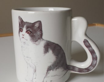 1980s Kitschy Kitty Mug