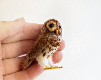 Needle felted Barred owl