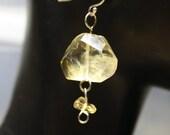 Christmas in July Citrine Yellow Golden Gemstone Sterling Silver Earrings
