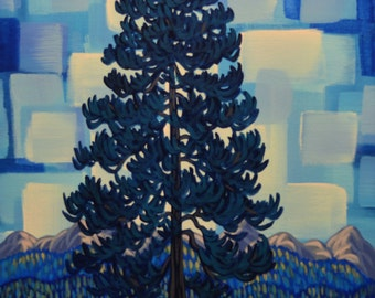 "Kootenay River III, 14""X20"", Original Painting, Canadian Artist, Ready to Hang, Gallery Canvas"