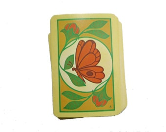 Vintage Butterfly Playing Cards Deck Vintage, 70s  Deck of Cards by Trump, Mod Groovy Hip Card Deck, Butterfly Cards by Swirlingorange11