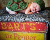 Newborn Hat and Turtle Shell Photo Prop, baby turtle, turtle baby, newborn turtle photography prop, photo prop turtle, handmade