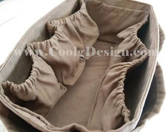 Diaper Bag Organizer Insert Bag Handmade for LV Neverfull GM / Faux Suede 30x17 cm