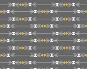 ON SALE - Four Corners Stripe Gray Sparkle (Metallic)  SC4872 - By Simple Simon and Company - Riley Blake Fabric - By the Yard
