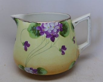Nippon Hand Painted Milk Pitcher - Vintage Milk Pitcher