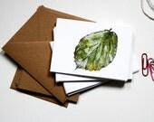 Mini Notecard Set - Leaves - Pack of 6