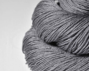 Gray which must not be named -  Merino/Silk Fingering Yarn Superwash