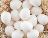 BULK Spun Cotton Eggs, 30mm - Vintage-Style Craft Shapes, 100 Pcs.