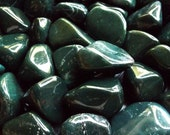 Tumbled Bloodstone - 2PCS, Heliotrope, stone of personal power, crystal healing, jewelry supply