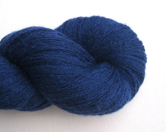 Lace Weight Merino Cashmere Recycled Yarn, Cobalt Blue, Lot 020516