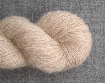 Recycled Baby Alpaca Lace Yarn, Natural, 420 yards, Lot 030316