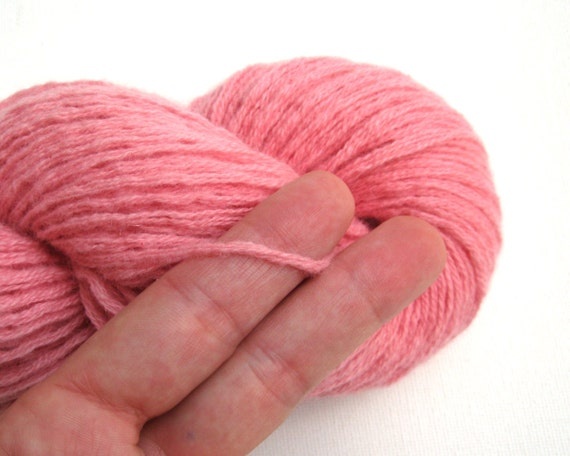 pure cashmere recycled yarn dk or light worsted weight flamingo pink lot 090516 from. Black Bedroom Furniture Sets. Home Design Ideas