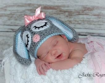 Easter Bunny Newborn Hat