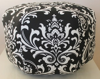 Damask Floor pouf /  Floor pillow / Damask floor pouf / floor pouf / foot pouf / foot stool / Moroccan pouf /  Floor cushion - damask