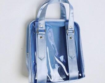 90's Baby Blue Clear Vinyl Handbag Tommy Hilfiger Purse